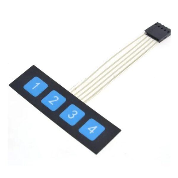 1×4 Key Matrix Membrane Switch Keypad-Sharvielectronics