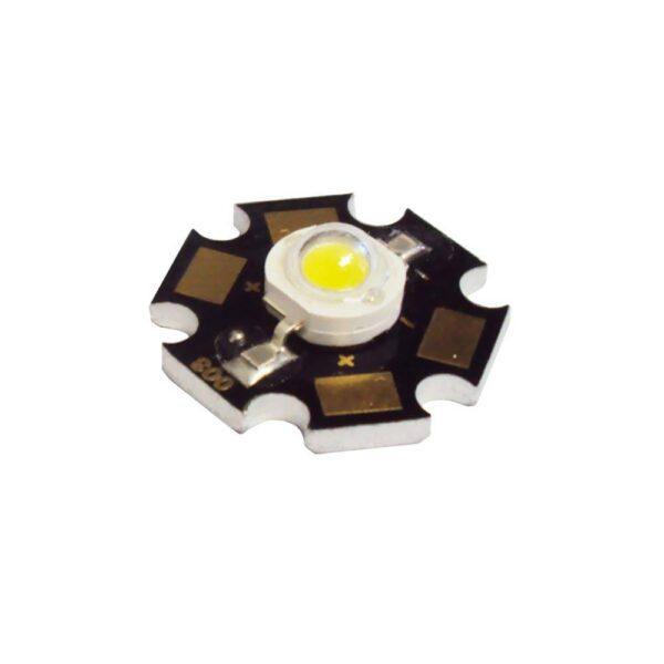 3 Watt White LED with Star Board Heat Sink