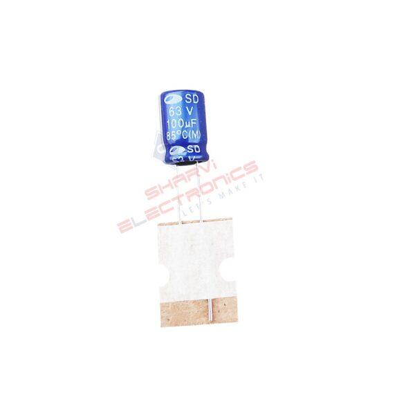 100uF 63V Electrolytic Capacitor – Samwha