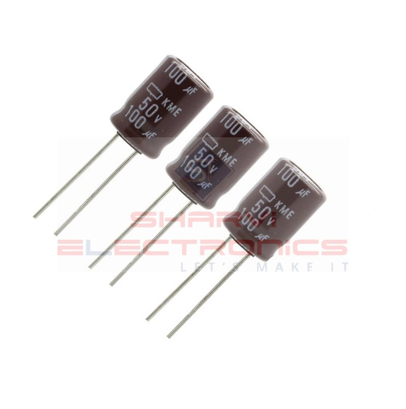 100uF50V Electrolytic Capacitor-Pack Of 3 Sharvielectronics