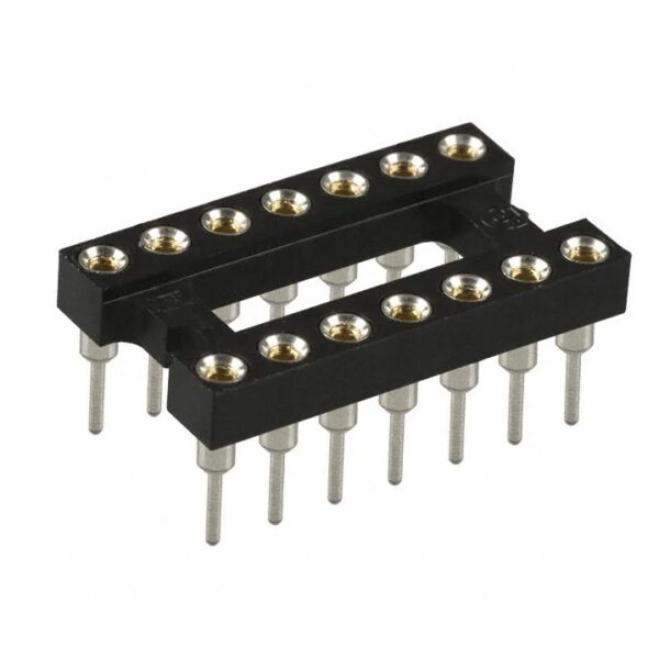 14 Pin Machined IC Base/Socket (Round Holes)