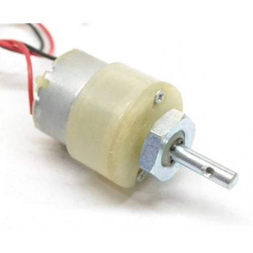 45 RPM-12V DC Geared Motor Centre Shaft sharvielectronics.com