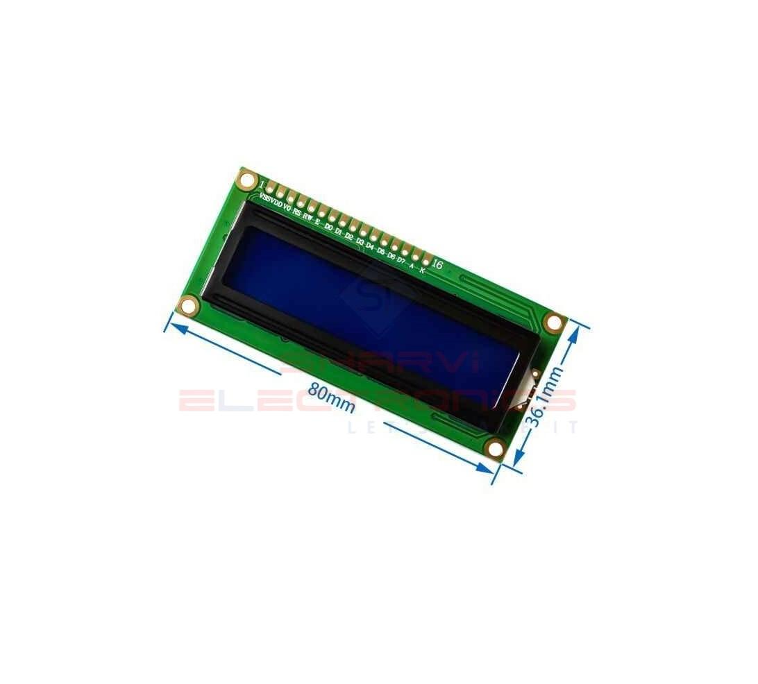16×2 LCD Display Blue Backlight