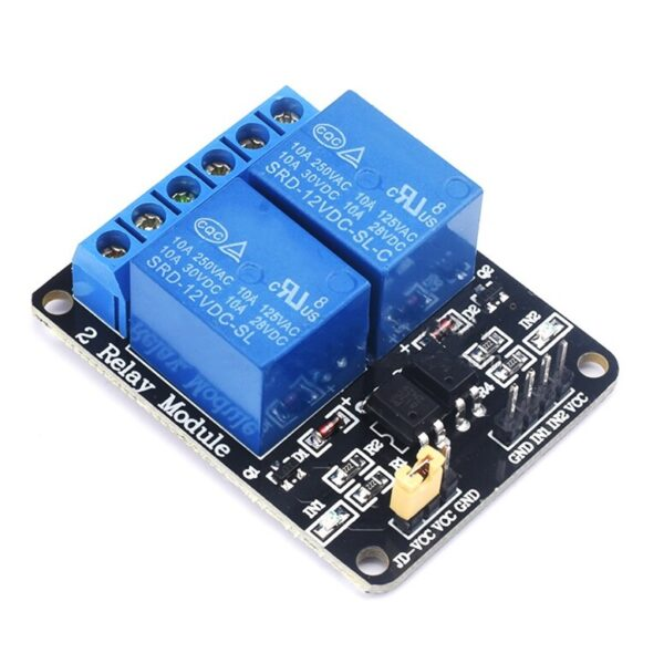 2 Channel 12V Relay Board Module with Optocoupler sharvielectronics.com
