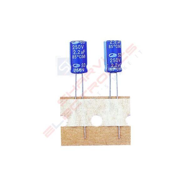 2.2uF 250V Electrolytic Capacitor – Samwha