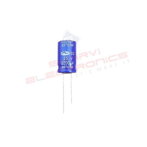 2200uF 25V Electrolytic Capacitor – Samwha
