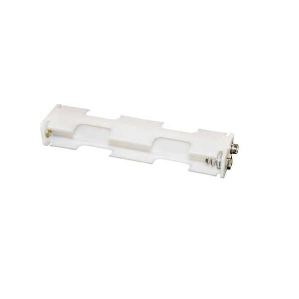 Battery Holder-2xAA-White in Color