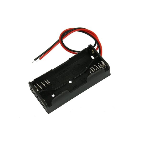 Battery Holder-2xAAA-Black in Color