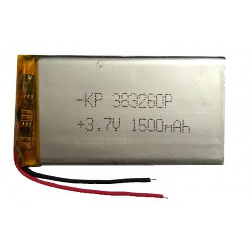 Lipo Rechargeable Battery-3.7V/1500mAH-KP-383260 Model