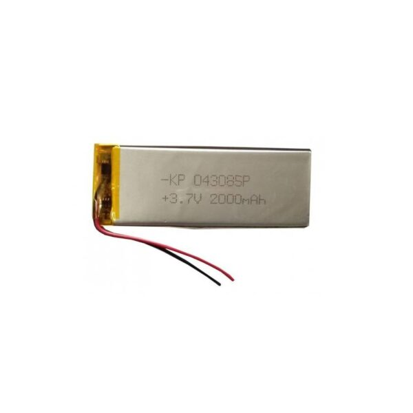 Lipo Rechargeable Battery-3.7V/2000mAH-KP-043085 Model