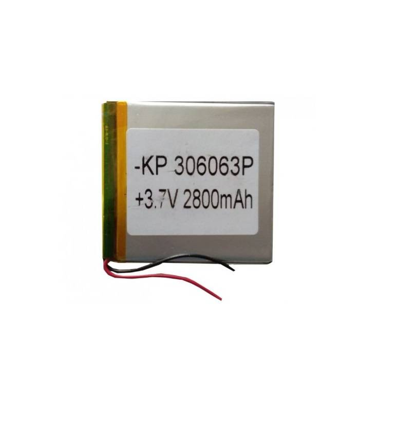 Sharvielectronics: Best Online Electronic Products Bangalore   3.7V 2800mAH Lipo Rechargeable Battery Model KP 306063   Electronic store in bangalore
