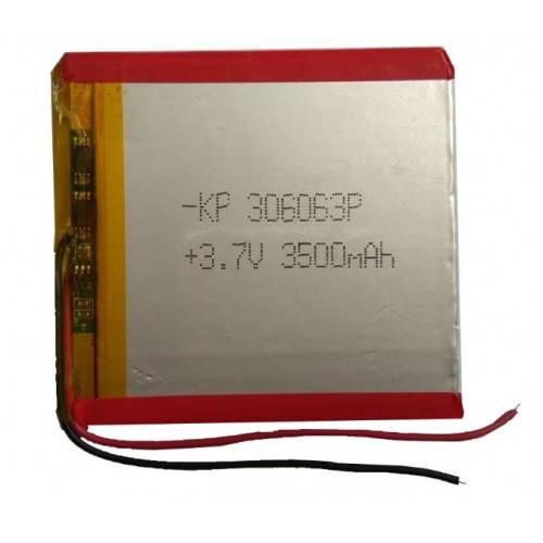 Lipo Rechargeable Battery-3.7V/3500mA-KP-306063 Model