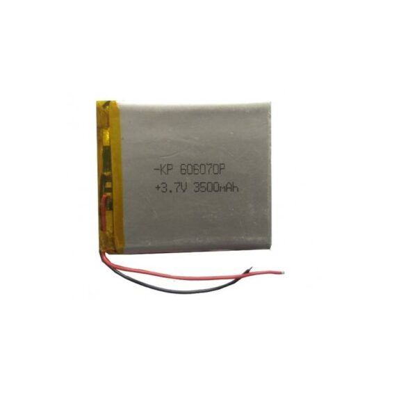Lipo Rechargeable Battery-3.7V/3500mAH-KP-606070 Model