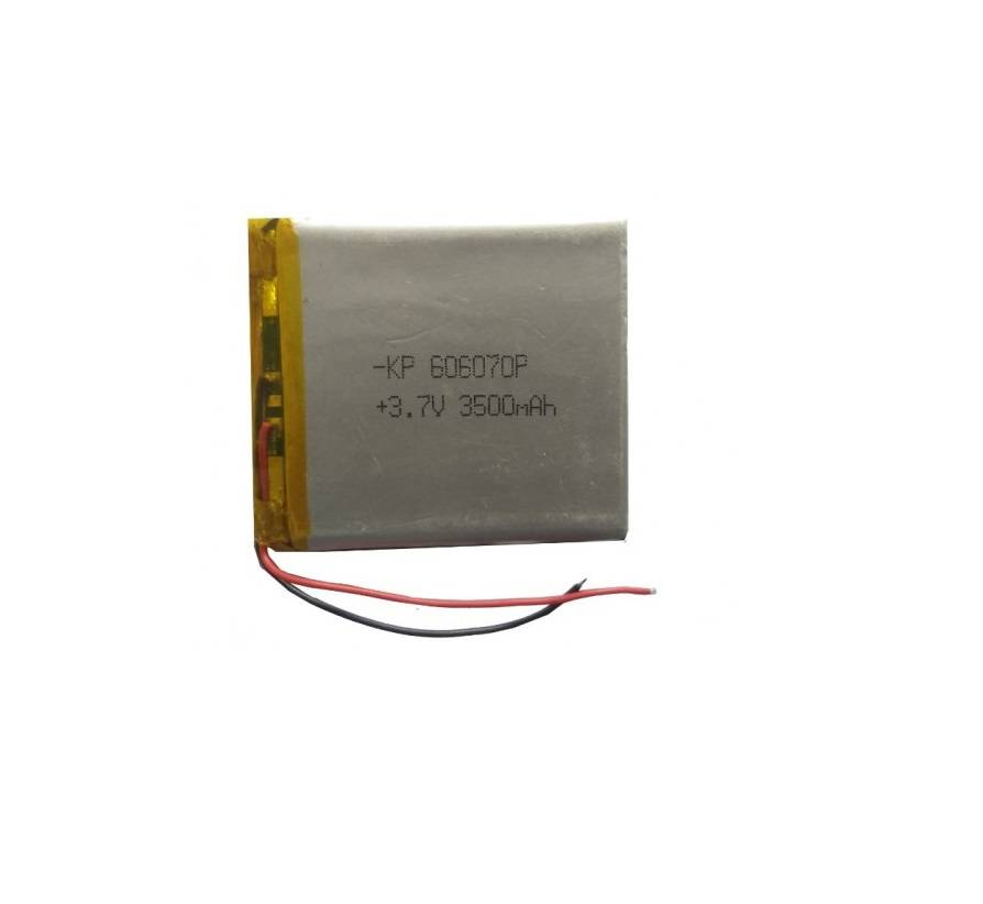 Lipo Rechargeable Battery-3.7V/3500mAH-KP-606070 Model