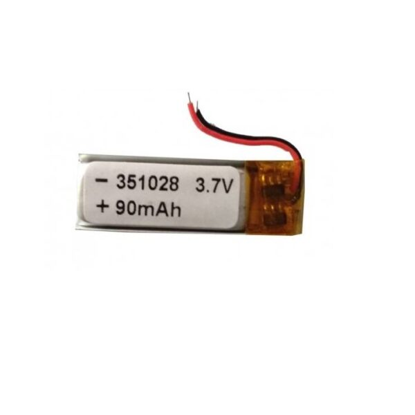 Lipo Rechargeable Battery-3.7V 90mAH-EC-351028 Model