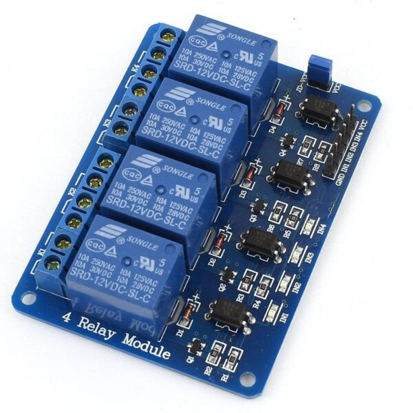 4 Channel Relay Board-12V