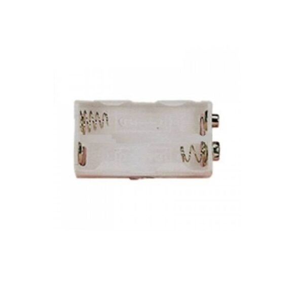 Battery Holder-4xAA-White in Color