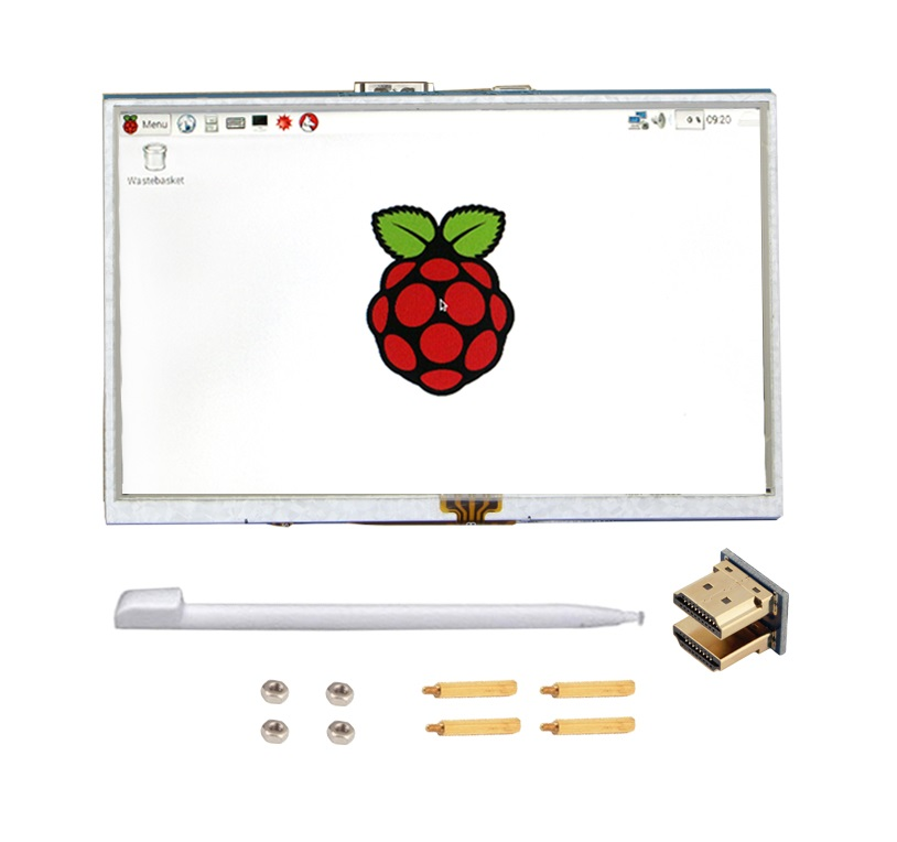 5 inch LCD Touch Display with HDMI for Raspberry Pi sharvielectronics.com