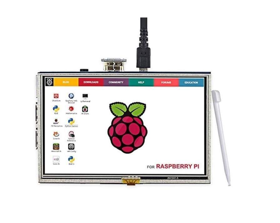 Raspberry Pi 5 inch LCD Touch Screen 800x480 Display with HDMI