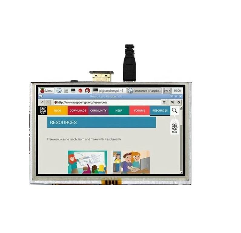 Sharvielectronics: Best Online Electronic Products Bangalore | 5 inch LCD Touch Screen Display with HDMI for Raspberry Pi 2 1 | Electronic store in bangalore