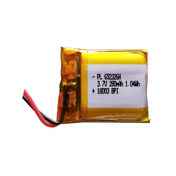 Lipo Rechargeable Battery-3.7V/280mAH-PL-652325H Model