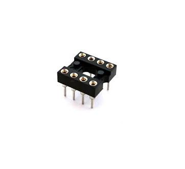 8 Pin Machined IC BaseSocket (Round Holes) sharvielectronics.com