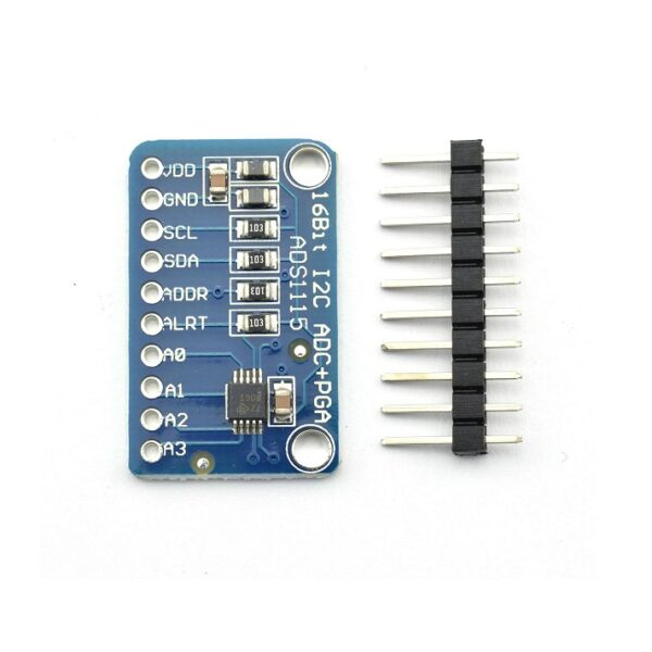 ADS1115 16-Bit I2C ADC 4-Channel With Programmable Gain Amplifier Module Sharvielectronics