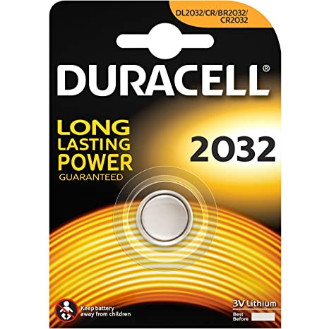 DL2032-CR2032-3V225mAh-Lithium Coin Cell-Duracell