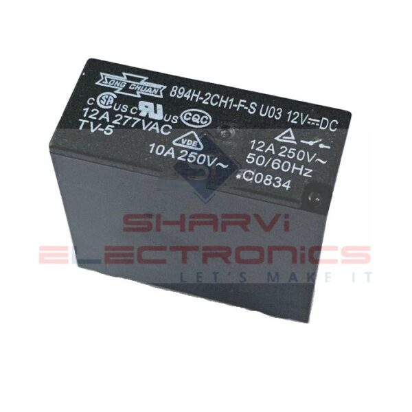 DPDT Relay - 12V8A - PCB Mount sharvielectronics.com
