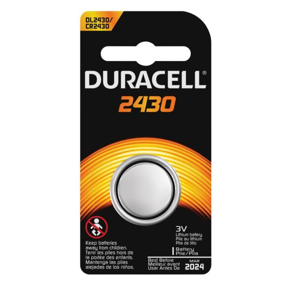 DL2430-CR2430-3V/285mAh-Lithium Coin Cell-Duracell