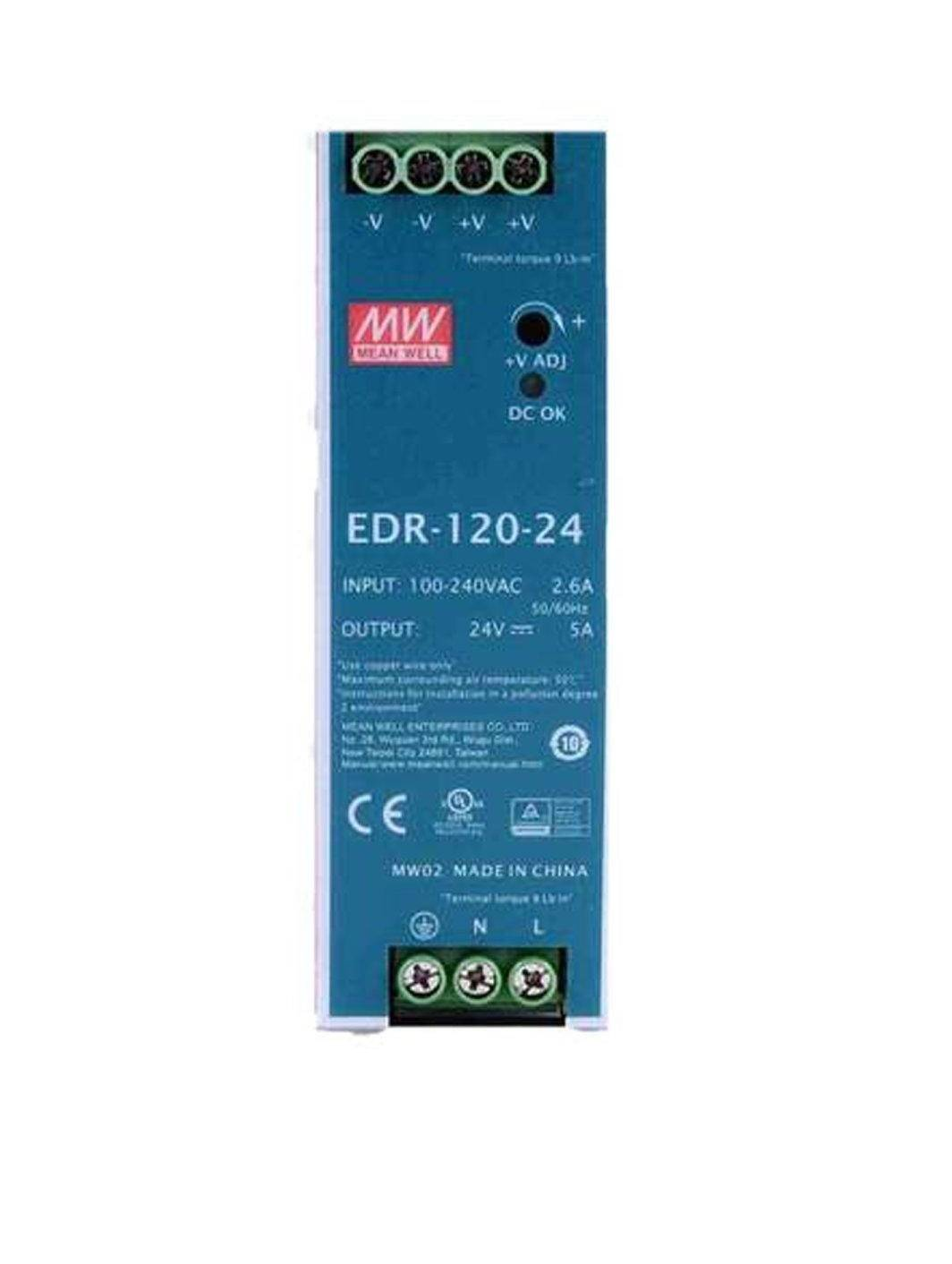 Sharvielectronics: Best Online Electronic Products Bangalore | EDR 120 24 Mean well SMPS – 24V 5A 120W Din Rail Metal Power Supply | Electronic store in bangalore