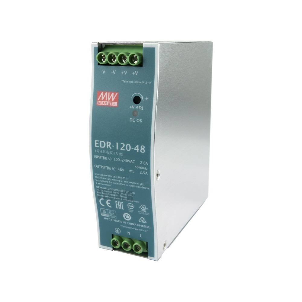 Sharvielectronics: Best Online Electronic Products Bangalore | EDR 120 48 Mean well SMPS – 48V 2.5A 120W Din Rail Metal Power Supply | Electronic store in bangalore