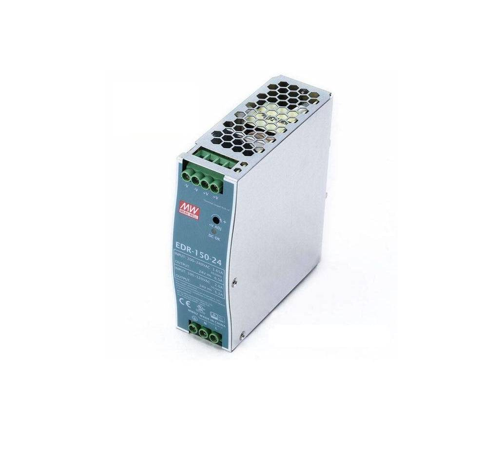 Sharvielectronics: Best Online Electronic Products Bangalore | EDR 150 24 Mean well SMPS – 24V 6.5A 156W Din Rail Metal Power Supply | Electronic store in bangalore