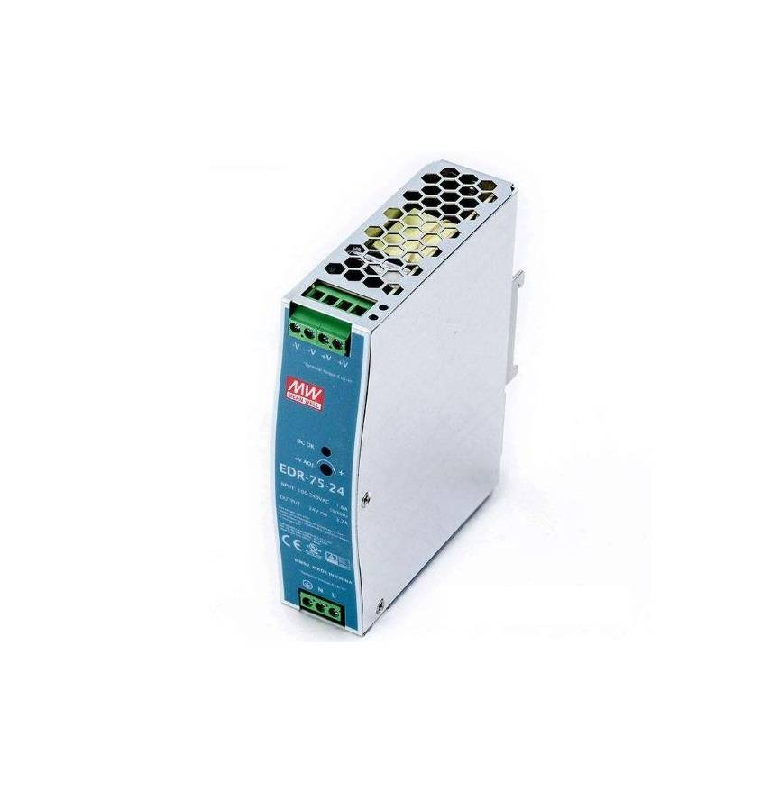 Sharvielectronics: Best Online Electronic Products Bangalore | EDR 75 24 Mean well SMPS – 24V 3.2A 76.8W Din Rail Metal Power Supply | Electronic store in bangalore