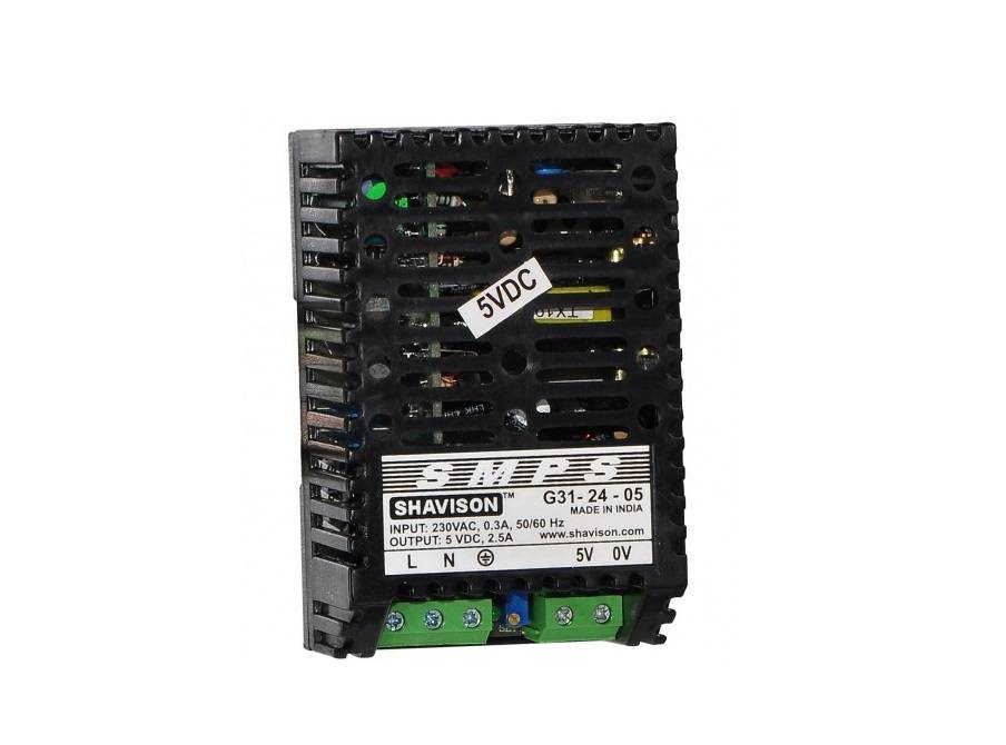 Sharvielectronics: Best Online Electronic Products Bangalore | G31 24 05 Shavison SMPS – 5V 2.5A – 12.5W DIN Rail Mountable Metal Power Supply | Electronic store in bangalore