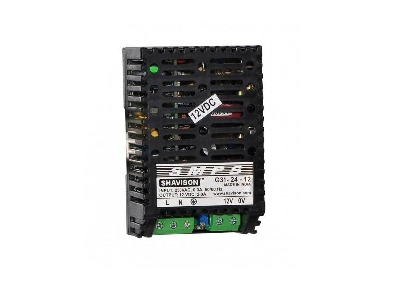 Sharvielectronics: Best Online Electronic Products Bangalore | G31 24 12 Shavison SMPS – 12V 2A – 24W DIN Rail Mountable Metal Power Supply | Electronic store in bangalore