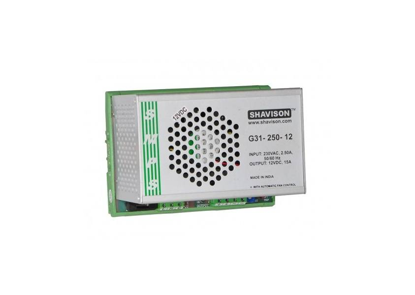 Sharvielectronics: Best Online Electronic Products Bangalore | G31 250 12 Shavison SMPS – 12V 15A – 180W DIN Rail Mountable Metal Power Supply | Electronic store in bangalore