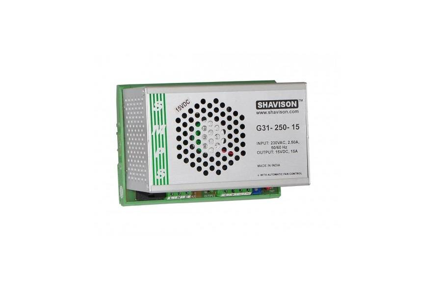Sharvielectronics: Best Online Electronic Products Bangalore | G31 250 15 Shavison SMPS – 15V 15A – 225W DIN Rail Mountable Metal Power Supply | Electronic store in bangalore
