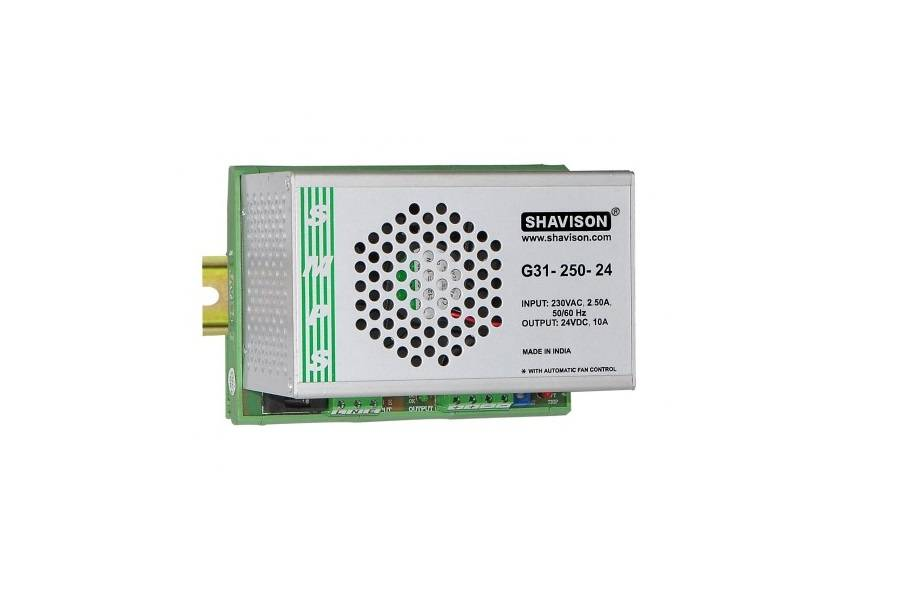 Sharvielectronics: Best Online Electronic Products Bangalore | G31 250 24 Shavison SMPS – 24V 10A – 240W DIN Rail Mountable Metal Power Supply | Electronic store in bangalore