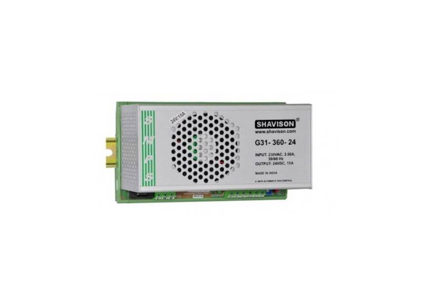 Sharvielectronics: Best Online Electronic Products Bangalore | G31 360 24 Shavison SMPS – 24V 15A – 360W DIN Rail Mountable Metal Power Supply | Electronic store in bangalore