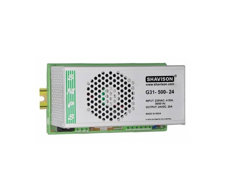 Sharvielectronics: Best Online Electronic Products Bangalore | G31 500 24 Shavison SMPS – 24V 20A – 480W DIN Rail Mountable Metal Power Supply | Electronic store in bangalore