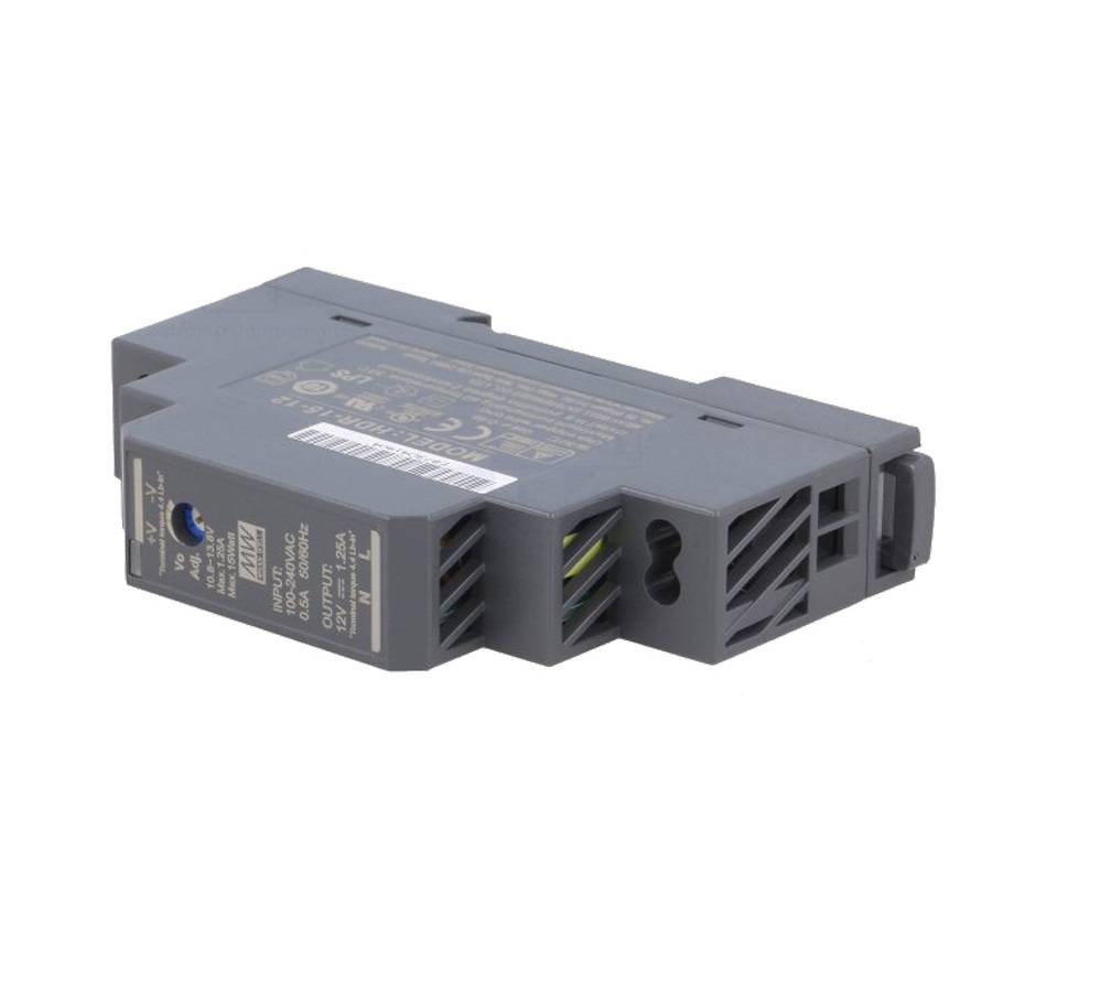 Sharvielectronics: Best Online Electronic Products Bangalore | HDR 15 12 Mean well SMPS – 12V 1.25A 15W Din Rail Metal Power Supply | Electronic store in bangalore