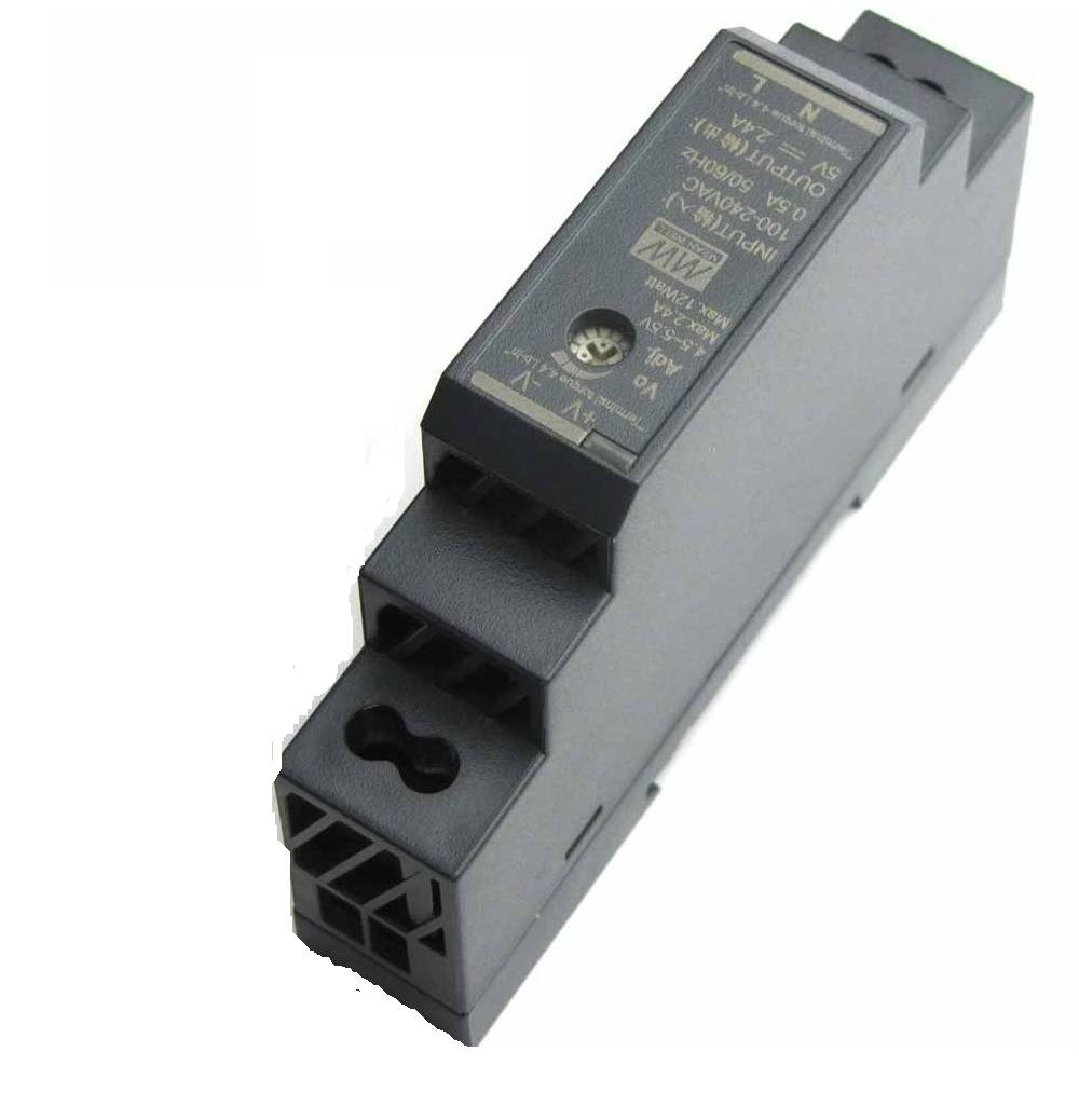 Sharvielectronics: Best Online Electronic Products Bangalore | HDR 15 5 Mean well SMPS – 5V 2.4A 12W Din Rail Metal Power Supply | Electronic store in bangalore