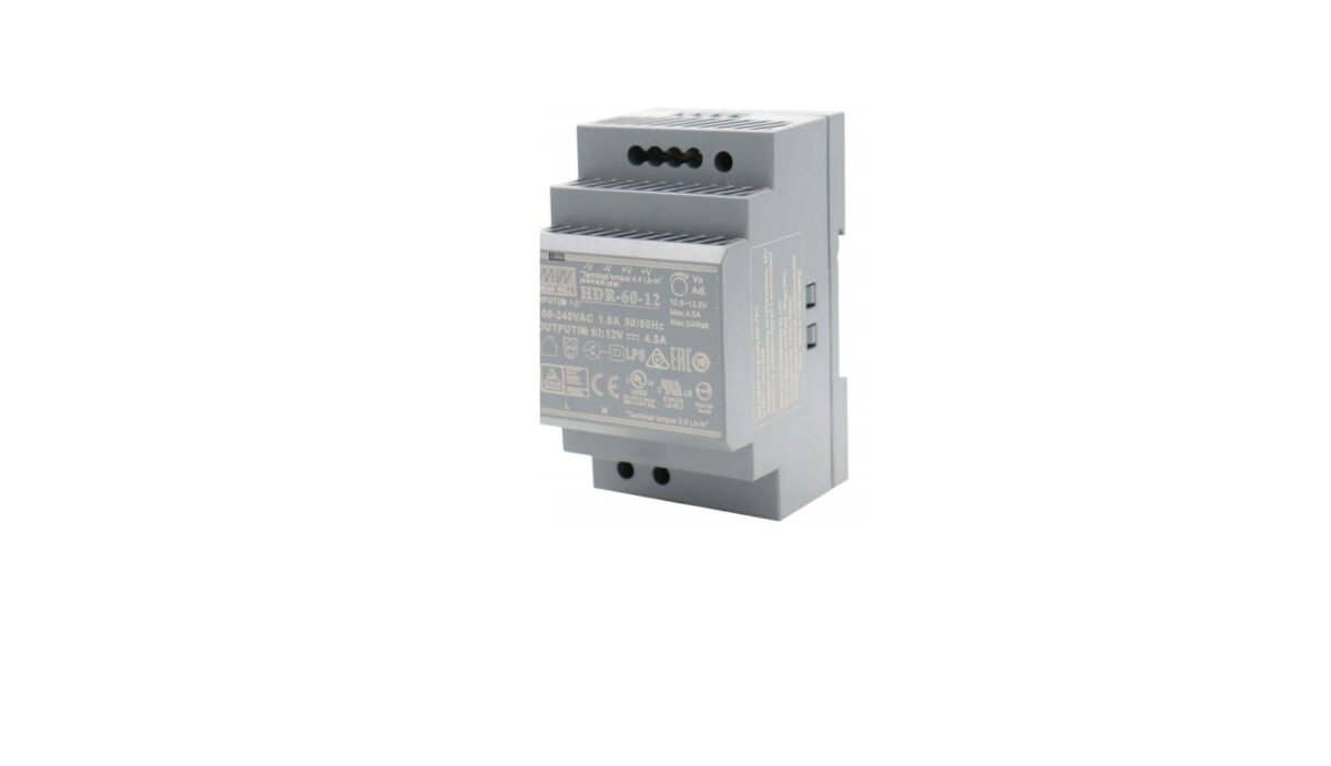 Sharvielectronics: Best Online Electronic Products Bangalore | HDR 60 12 Mean well SMPS – 12V 4.5A 54W Din Rail Metal Power Supply scaled 1 | Electronic store in bangalore