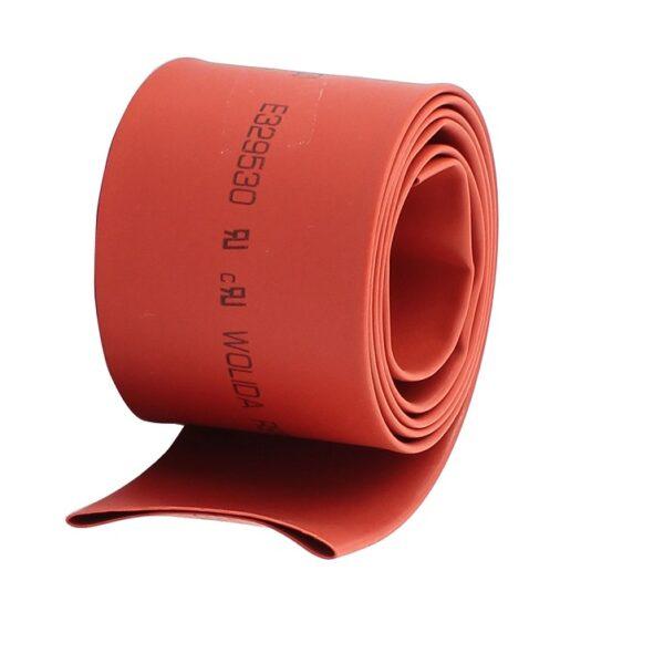 Heat Shrink Tube - Red - Diameter 30 mm - Length 1 meter Sharvielectronics