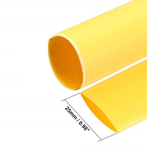 Heat Shrink Tube - Yellow - Diameter 25 mm - Length 1 meter Sharvielectronics
