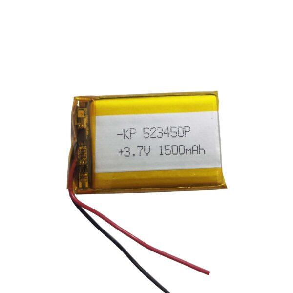 Lipo Rechargeable Battery-3.7V/1500mAH-KP-523450P Model