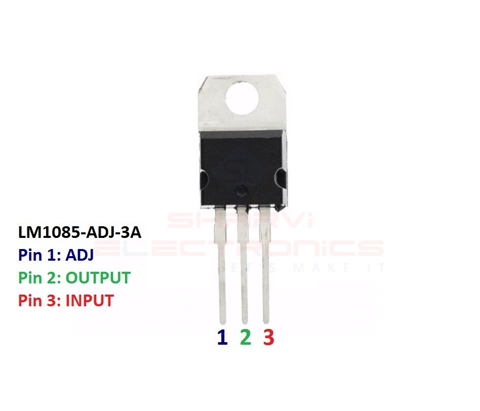 Sharvielectronics: Best Online Electronic Products Bangalore | LM1085 ADJ 3A Adjustable Low Dropout Positive Voltage Regulator | Electronic store in bangalore
