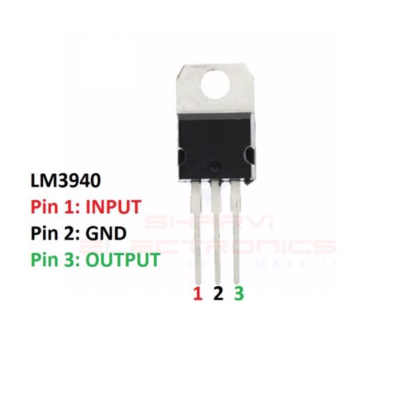 Sharvielectronics: Best Online Electronic Products Bangalore | LM3940 IC 1A Low Dropout Regulator IC for 5V to 3.3V Conversion 1 | Electronic store in bangalore