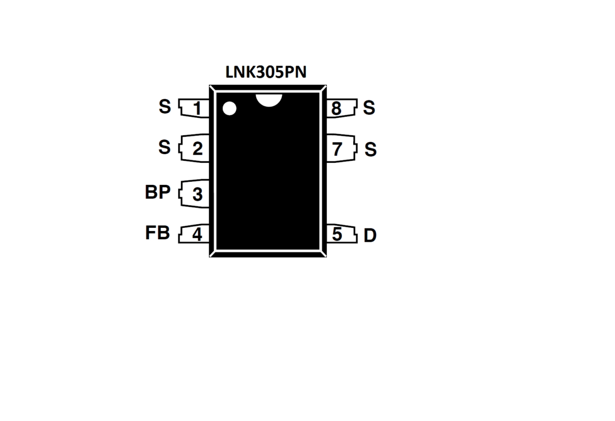 LNK305PN IC-Power Integrations-AC-DC Off Line Switcher IC